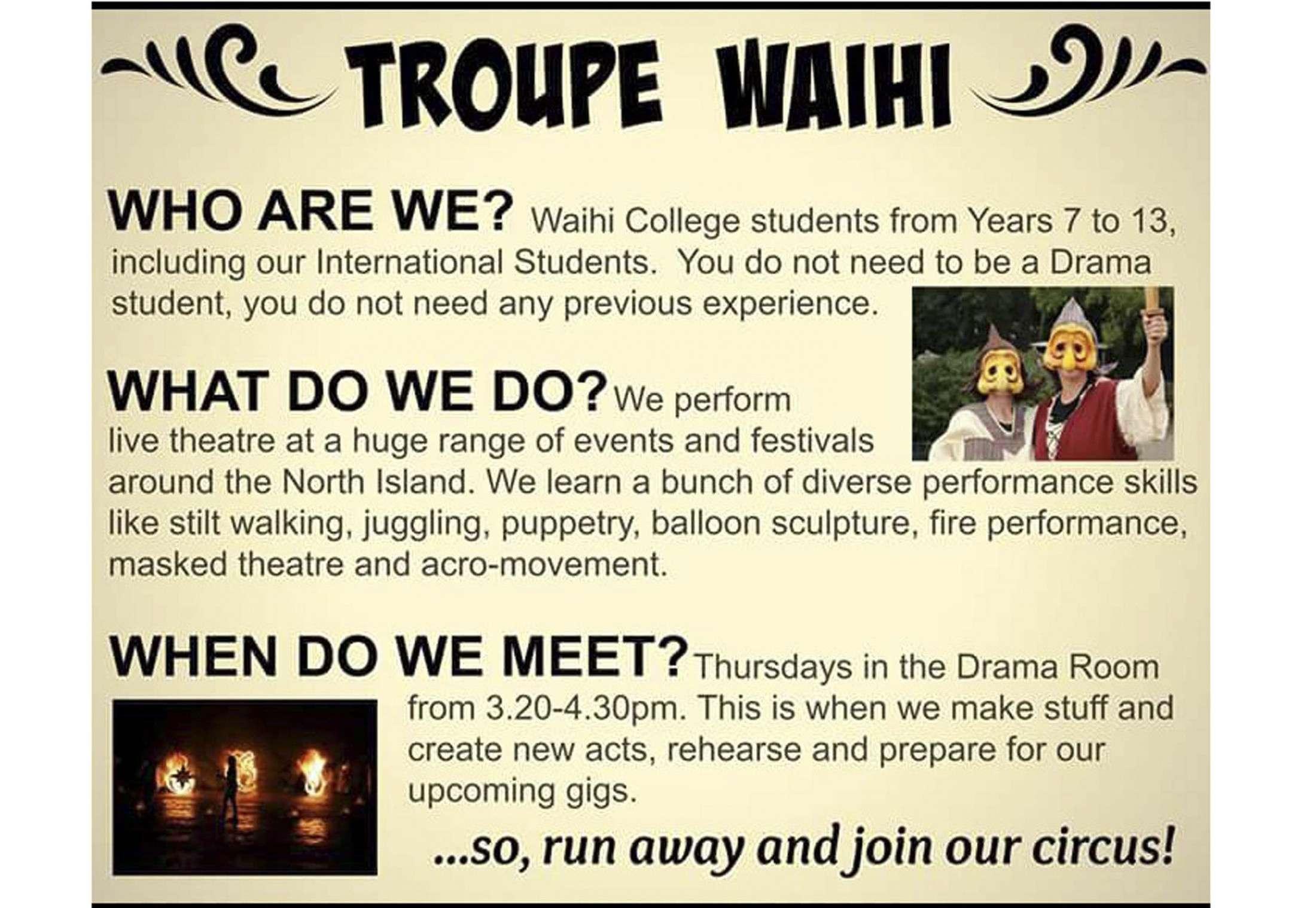 Troupe Waihi 1